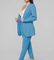 New Spring Fall Female Solid Candy Color V Neck Sexy Blazer Pant 2 Piece Suit Outwear Lady Casual Slim Elegant Women's Suits Pant Suits WOMEN'S FASHION