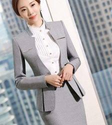 Hot Sale Formal Suits Women Uniform Elegant Business Pants Skirt Suits Female Workwear Office Suits Blazers S-4XL Pant Suits WOMEN'S FASHION