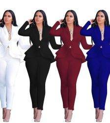 two piece set women office female 2 piece set for women long sleeve suit pants two pieces sets winter women's suits Pant Suits WOMEN'S FASHION