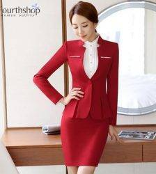 Women Formal Suits Office Lady Work Wear Uniform Design Autumn Winter Pants Blazer Set Fashion Plus Size Jacket Suit Female 2020 Pant Suits WOMEN'S FASHION