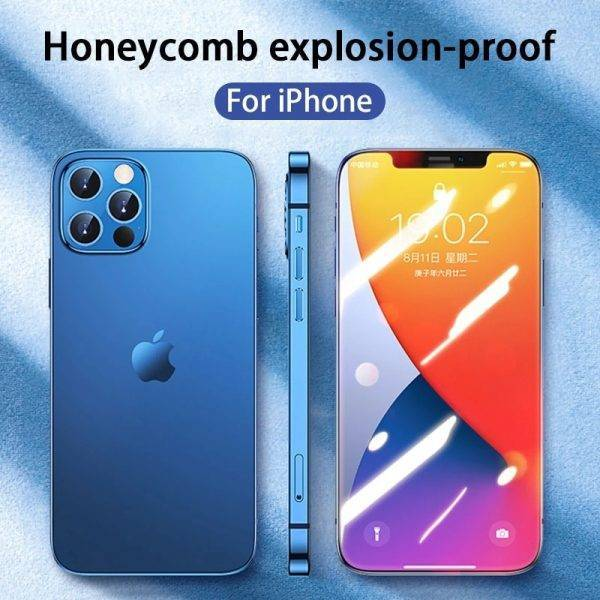 20000D Full Cover Screen Protective Glass On The For iPhone 12 11 Pro 12 Mini XS Max X XR 7 6 6S 8 Plus SE 2 Tempered Glass Film Cell Phones & Accessories Mobile Phone
