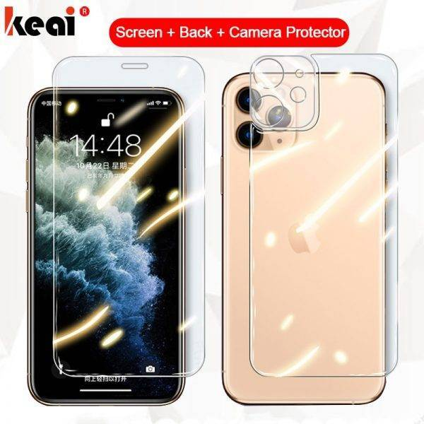 3-in-1 Full Cover For iPhone 11 Screen Protector X XR XS Max Back Tempered Glass On For iPhone 11 Pro 7 8 Plus Camera Lens Film Cell Phones & Accessories Mobile Phone