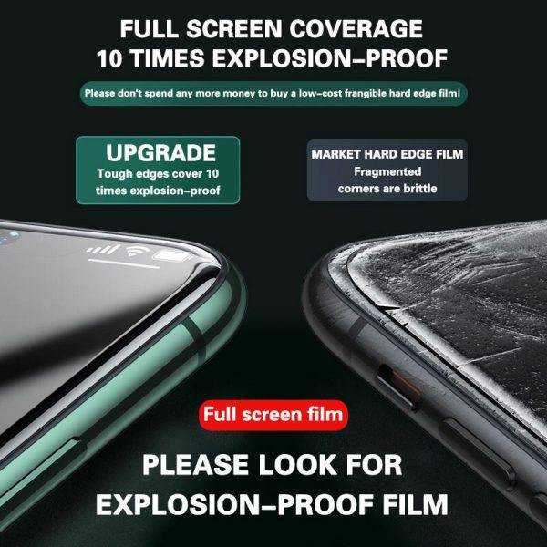 3PCS Full Cover Protective glass on For iPhone 11 12 Pro Max tempered Glass On iPhone X XR XS Max Screen Protector Curved Edge Cell Phones & Accessories Mobile Phone