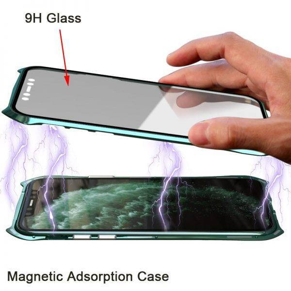 360 Full Protective Case For iphone 11 case Metal Magnetic Adsorption For iphone 11 pro max 2019 New Cases Cover Bumper Coque Cell Phones & Accessories Mobile Phone