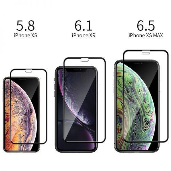 5Pcs 9H Full Cover Tempered Glass For iPhone 11 Pro Max X XS Max XR 6 6s 7 8 Plus SE 2020 Screen Protector Protective Glass Case Cell Phones & Accessories Mobile Phone