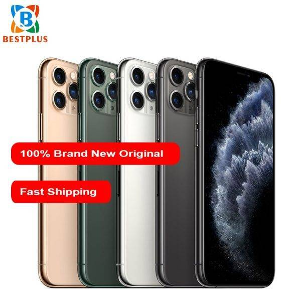 New Apple iphone 11 pro A2217 Mobile Phone 5.8″ 4GB RAM 64/256/512GB ROM Triple Rear Camera 1125 x 2436 pixel Hexa-core phones Cell Phones & Accessories Mobile Phone