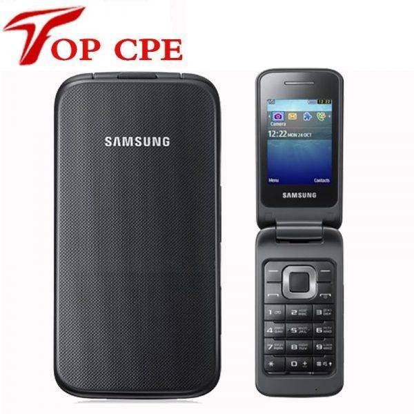Original Samsung C3520 Unlocked Mobile phone Flip 1.3MP Black/Silver/Pink color 2.4″ 1 Years Warranty Mobile Phone