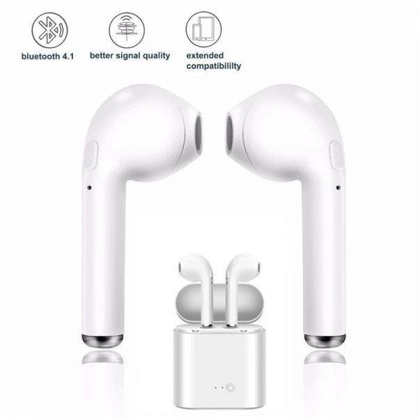 Wireless Earpiece Bluetooth i7s TWS 5.0 Earphones For Smart Phone Sport Earbuds Headset With Mic Xiaomi Samsung Huawei Iphone Mobile Phone