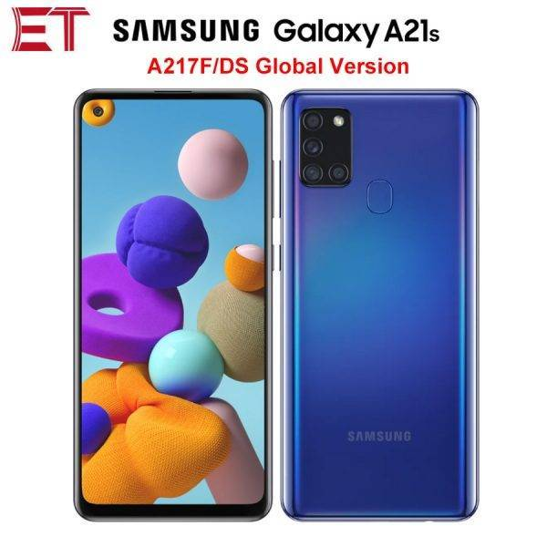 Global Version Samsung Galaxy A21s A217F/DS 4G Mobile Phone 4GB 64GB Octa Core 6.5″ 5000mAh 4Camera 48MP NFC Dual SIM Android 10 Mobile Phone