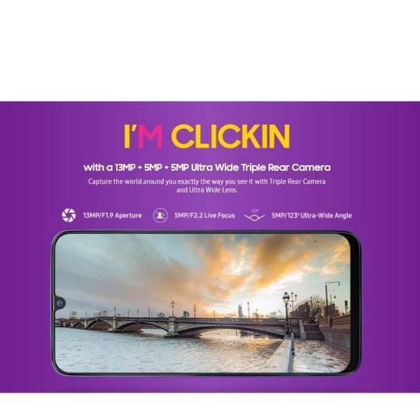 New Original Global Samsung Galaxy M30 M305F/DS 4GB RAM 64GB ROM Mobile Phone 5000mAh Dual SIM 6.4″ Triple Camera 4G Smartphone Mobile Phone
