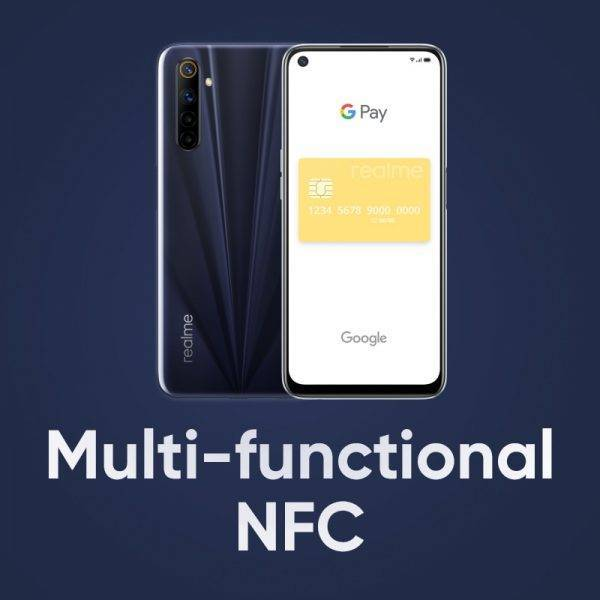 """realme 6s NFC Global smartphone 90Hz 6.5"""" Display 6GB 128GB mobile phone 48MP 4300mAh 30W changer Telephone Android Phones Mobile Phone"""