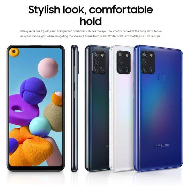 Global Samsung Galaxy A21s A217F/DS 4GB 64GB Mobile Phone 5000mAh Octa core 6.5″ Quad Camera 48MP Dual SIM 4G Android Smartphone Mobile Phone
