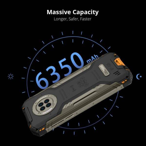 World Premiere DOOGEE S96 Pro Rugged Phone 48MP Round Quad Camera 20MP Infrared Night Vision Helio G90 Octa Core 8+128GB 6350mAh Mobile Phone