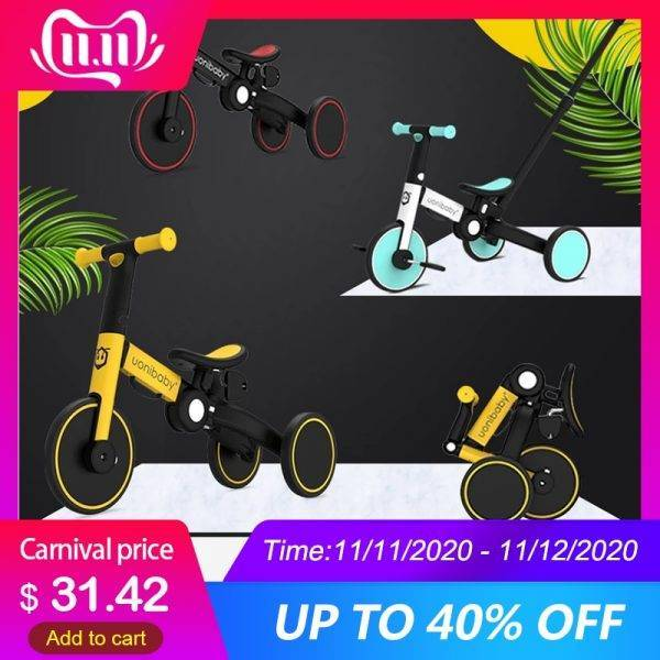 3 In 1 Baby Bicycle Children's Balance Bike Foldable Tricycle for Kids Folding Infant Stroller Trike Toddler Scooter Child Cart BABY Strollers & Accessories