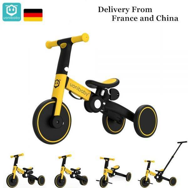 Original Uonibaby 4 Into 1 Baby Tricycle Stroller Kids Pedal Trike Two Wheel Balance Bike Scooter Trolley For 1-6 Years Old BABY Strollers & Accessories