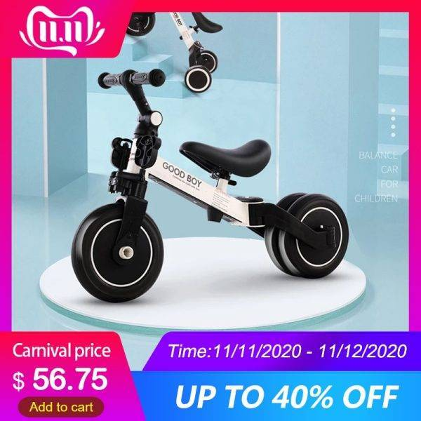 Baby Bike Children Bicycle Kids Balancing Car Folding Trike Kids' Trikes 3 in 1 Children Scooter Baby Walker Trike Bike for Kids BABY Strollers & Accessories