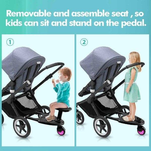 Baby Stroller Step Board Stopping Plate Twins Strollers Accessory Outdoor Activity Board Stroller Baby Seat Standing Plate BABY Strollers & Accessories