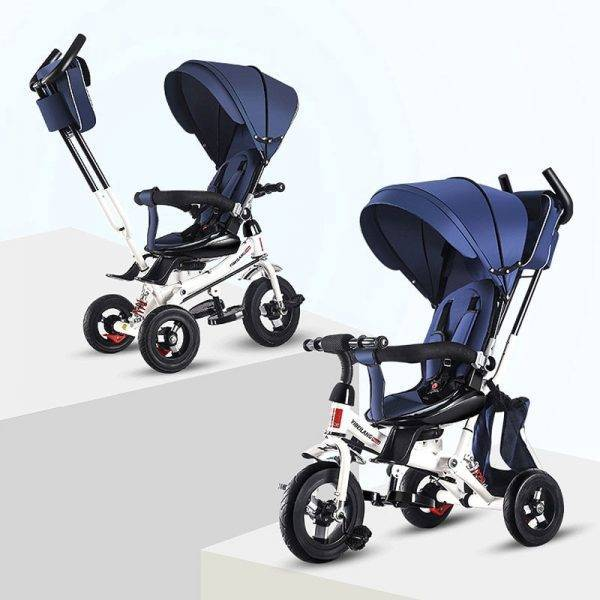 Child Tricycle Stroller Folding Three Wheels Bicycle Rotating Seat Baby Car Convertible Handle Free-inflation Wheels BABY Strollers & Accessories