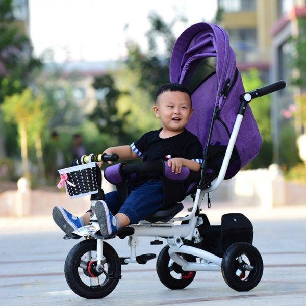 Can Sit Lie Baby Stroller 3 In 1 Portable Baby Tricycle Bike Baby Carriage 3 Wheels Convertible Handle Children Bicycle Trike BABY Strollers & Accessories