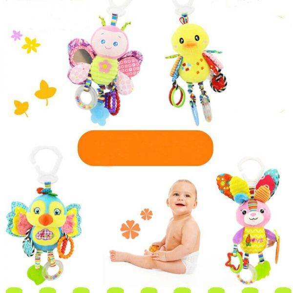 NEW Kid Baby Crib Cot Pram Hanging Rattles Stroller&Car Seat Toy Ringing Bell BABY Strollers & Accessories