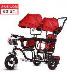 Baby Twin Tricycle Stroller 3 Wheels Double Stroller for Kids Twins Guardrail Seat Baby Toddler Bicycle Car Tricycle Child Pram BABY Strollers & Accessories