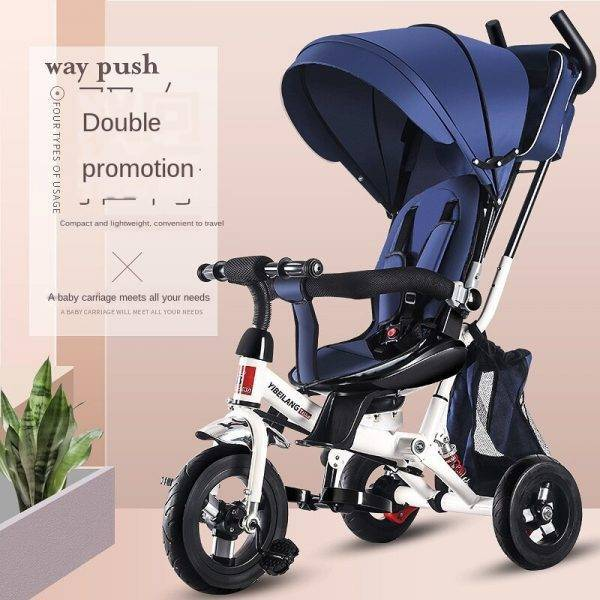 Three wheels stroller children's rotating tricycle bicycle baby stroller folding trolley  trike BABY Strollers & Accessories