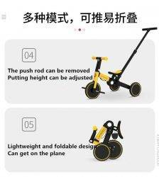 uonibaby 5-in-1 baby stroller, pedal tricycle, two-wheel balance bike, children's bicycle, can be folded and multi-function BABY Strollers & Accessories