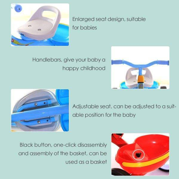 2-4Y Baby Stroller Children's Tricycle Boy Girl Bicycle Seat Adjustment Stroller Umbrella Car for Kids Tricycle Stroller bike BABY Strollers & Accessories