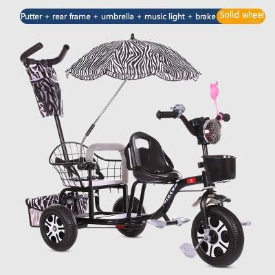 Baby Stroller Child Double Tricycle Bicycle Baby Twin Stroller Baby Twins 0-6Y Lightweight Versatile 3 Wheel Bicycle Baby Bike BABY Strollers & Accessories