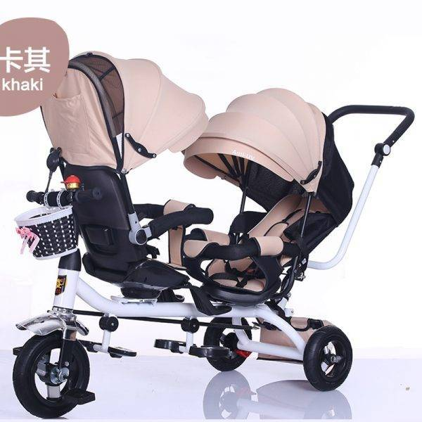 triciclo infantil The Children Tricycle Twin Baby Cart Double Bicycle Light Baby Stroller 3 Wheel Tricycle Baby Bike BABY Strollers & Accessories