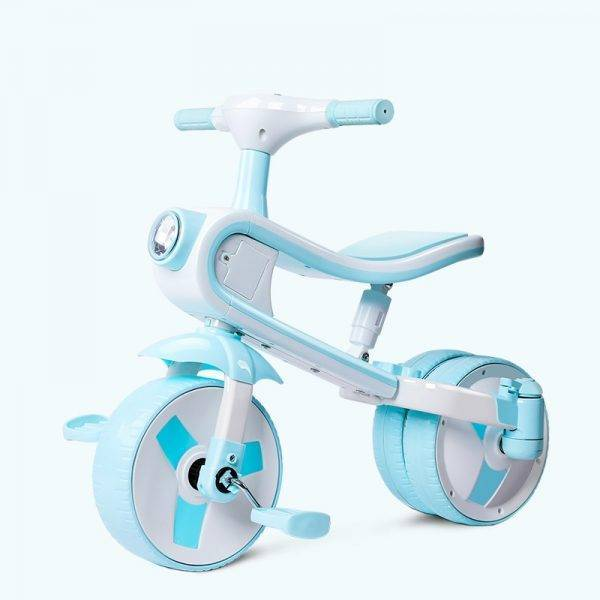 Large New Children's Tricycle Bicycle Baby Balance Bike Easy Folding Cart Three Wheel Stroller Kids Bike Form Wheel with Flight BABY Strollers & Accessories