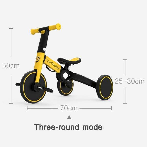 Babyinner Foldable Baby Balance Bike Child Tricycle 5-in-1 Kids Walker Strollers Portable Kids Bicycle Three Wheel Bikes 1-6 Y BABY Strollers & Accessories