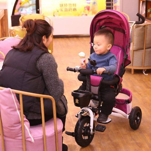 Multifunction Folding Can Sit and Lie Children's Tricycle Baby Stroller Bicycle Reclining Seat Space Wheel Three Wheel Stroller BABY Strollers & Accessories