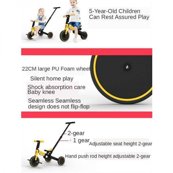 Children Bicycle Tricycle Child Bike Foldable Baby Balance Bicycle Children's Scooter Kids Walker trike baby stroller 5 in 1 BABY Strollers & Accessories