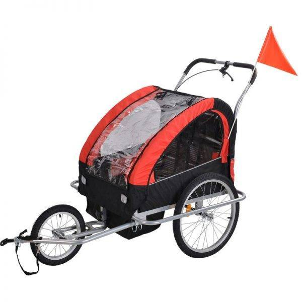 Bicycle Trailer and Stroller 2 in 1 For 2 Babies Twins Cart Mutifunction Anti Shock Rain Water Foldabe Outdoor Toys Goods Kids BABY Strollers & Accessories
