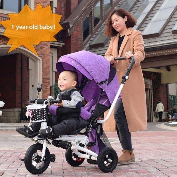 Light Folding Children Tricycle Can Lie Recline Three Wheels Baby Tricycle Bicycle Stroller Car Travel Newborn Baby Carriage BABY Strollers & Accessories