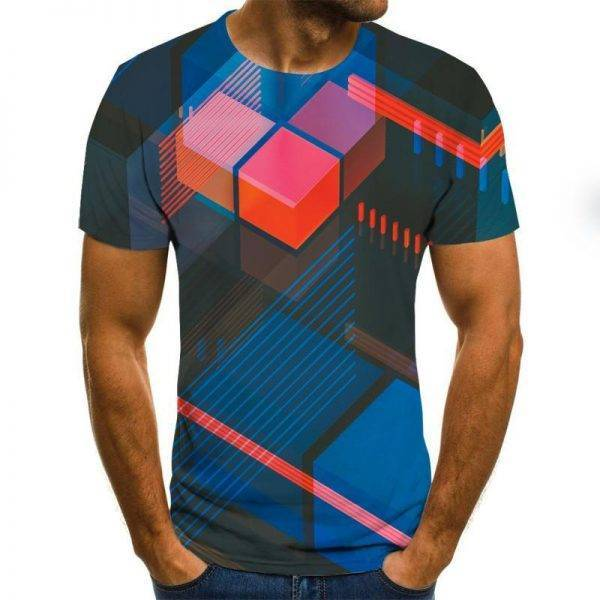 Three-dimensional vortex Men Tshirt 3D Printed Summer O-Neck Daily Casual Funny T shirt Adobe Design & Illustration SOFTWARE