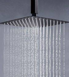 Matte Black LED Digital Display Shower Faucet Set Bathtub Shower System Bath Mixer Tap Bathroom Faucet Tap Hot Cold Mixer Plumbing
