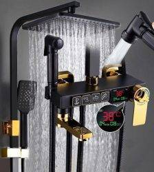 Thermostatic Shower faucet bathroom shower SET Bathtub faucet mixer with display digital shower set Plumbing