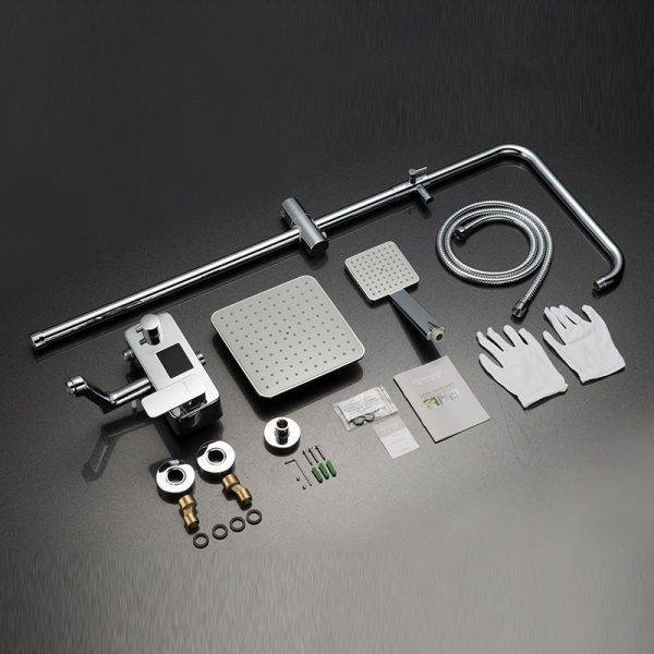 Chrome Digital Shower Faucets Favorite By Family Bathroom Shower Faucet High Quality Single Handle Shower Set Plumbing