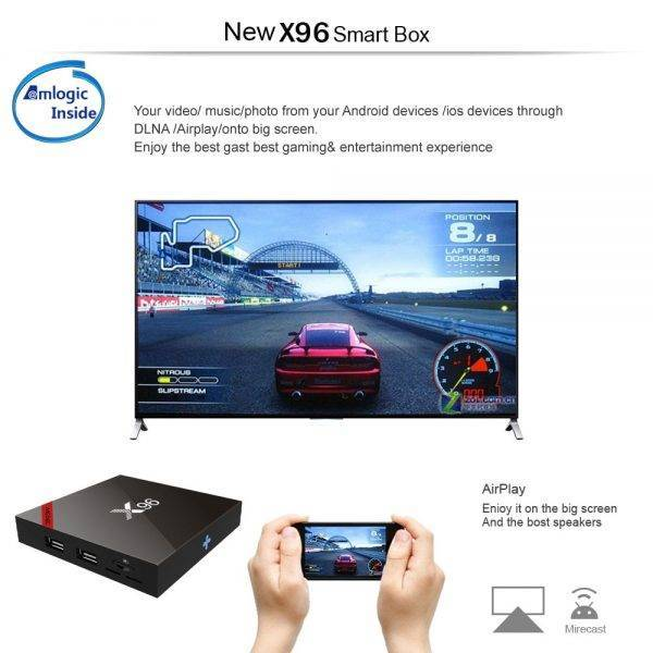 X96 TV Box S905W Quad Core Android 7.1.2 OS 1G 8G Support Youtube Netflix Music Movies IPTV LIVE Channel Games Set Top Box Accessories Parts Computer Technologies Networking Products New Arrivals
