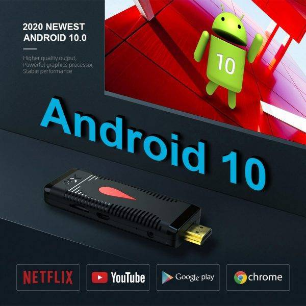 New Arrival X96 S400 Mini Android TV Stick Support Youtube Netflix Games Iptv Miracast Set Top Box Android Accessories Parts Computer Technologies Networking Products New Arrivals
