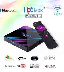 H96 MAX 9.0 Android Smart TV Box 4GB + 64GB Wireless IPTV Box 4K USB Set Top Box WiFi 5G For Netflix Youtube Google Play Accessories Parts Computer Technologies