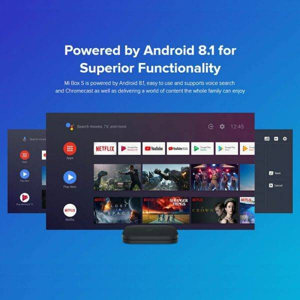 Xiaomi Mi TV Box S 4K HDR Android 8.1 2G+8G WIFI BT 4.2 Streaming Media Player Netflix YTB Google Cast IPTV Box Global Version Accessories Parts Computer Technologies