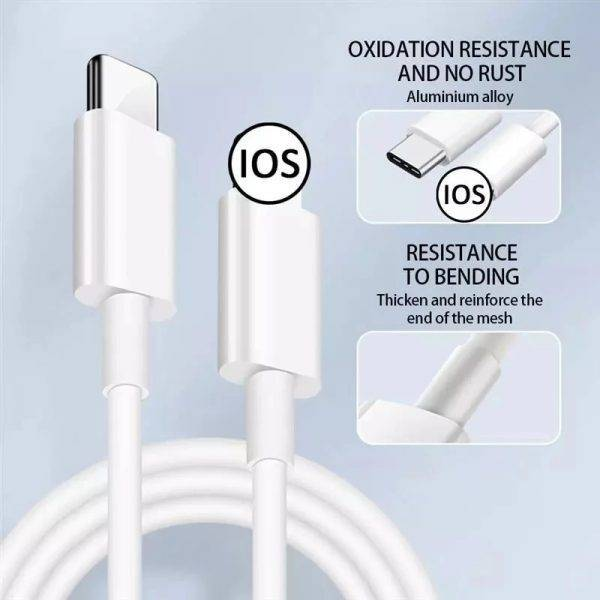 Original 20W PD USB Type C to Lighting Fast Charger Cable For Apple iPhone 12 11 Pro Max Mini X XR 8 7 Plus iPad Data Sync Line ELECTRONICS