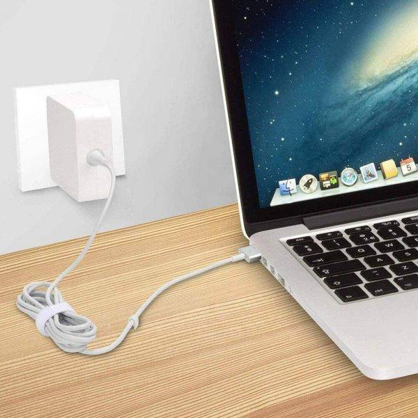 2-IN-1 Charging Cable 45W 60W 85W MagSafe 2 Types T-Tip L-Tip Laptop Power Adapter Charger for Apple Macbook Air Pro All Series ELECTRONICS