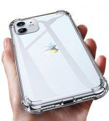 Luxury Transparent Shockproof Silicone Case For iPhone 11 X Xr Xs Max Case 13 12 11 Pro Max 8 7 6s Plus Case Silicone Back Cover Cell Phones & Accessories