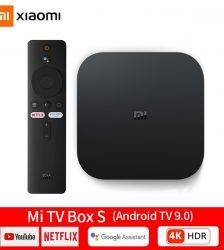 Global Version Xiaomi Mi TV Box S 4K HDR Android 9.0 DOLBY Google Assistant Netflix Smart TV IPTV Set Top Box 4 Media Player ELECTRONICS Television & Video