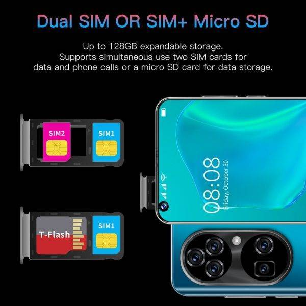 Smartphone Android11.0 12GB 512GB Celulares Octa Core HD Camera 7.3″ Telephone 6800mAh Global Version 4G 5G Mobile Cell Phones ELECTRONICS Mobile Phone