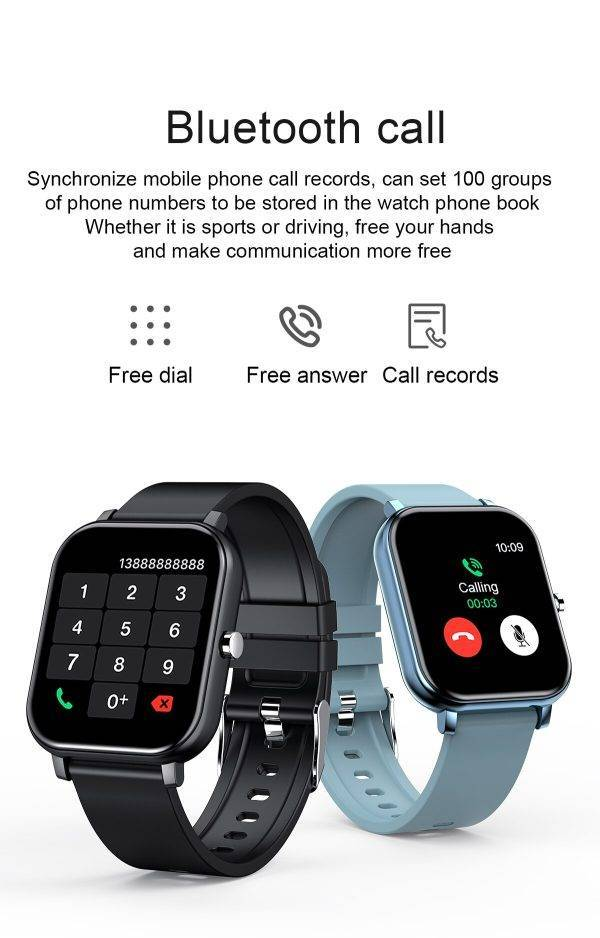 2021 New Y30 smartwatch Time the bracelet Bluetooth phone P8 smartwatch /Listen to music for more than 10 hours/Super clear ELECTRONICS Mobile Phone